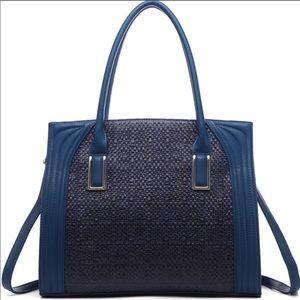 Last 1! Boutique-Pink Haley Dariela Tote in Blue